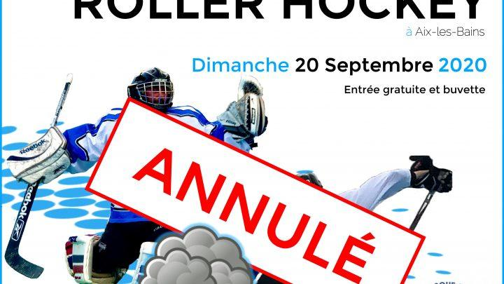Aix Roll'n'Ride - Affiche tournoi roller hockey annulé