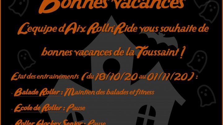 Aix Roll'n'Ride - Affiche vacances halloween
