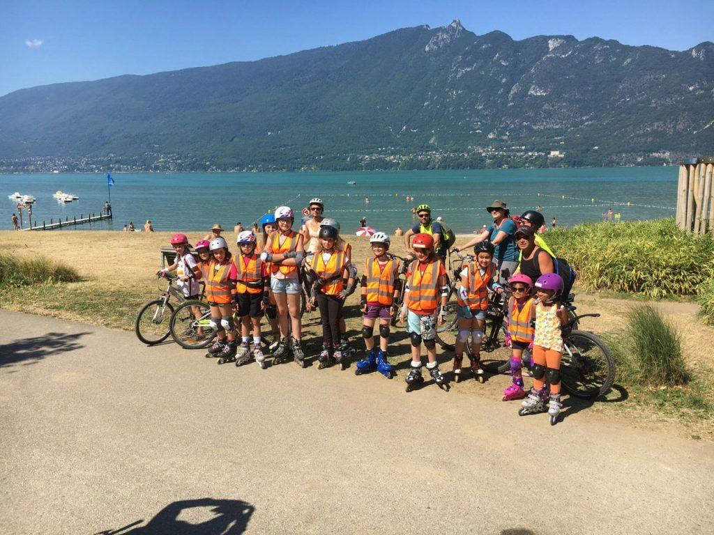 Aix Roll'n'Ride - Photo balade roller enfant au bord du lac